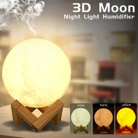 3D Moon Night Light Humidifier 880ML Large Capacity Touch 3 Brightness Adjustable USB Air Aroma Diffuser Nachtlampje Veilleuse