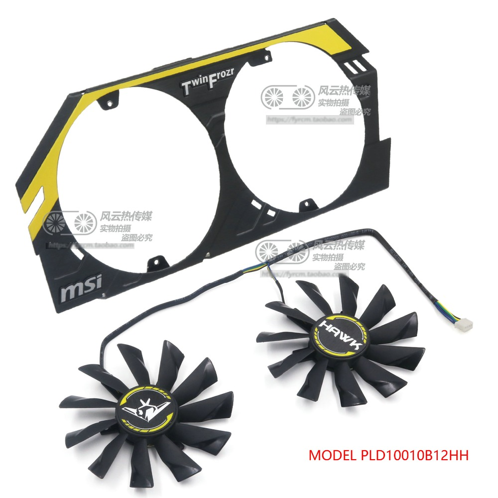 New Original PLD10010B12HH DC12V 0.40A for MSI GTX760 HAWK <font><b>R9</b></font> <font><b>270X</b></font> Graphics Card Cooling <font><b>fan</b></font> image