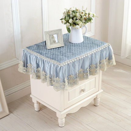 European style bedside cabinet cover dust cover lace thickening non-slip multi-purpose cover refrigerator washing machine cover star print refrigerator dust cover