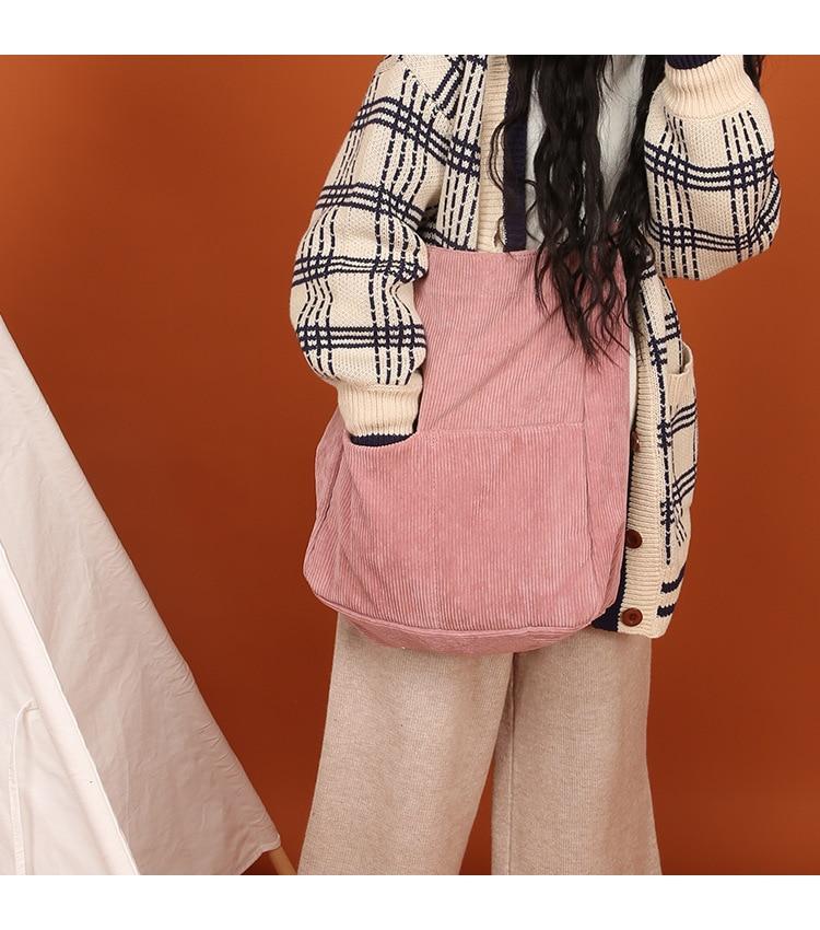 Corduory 4 Solido Cinghia Messaggero Regolabile Croce By81114 Cream pink Esterna Della yellow Corpo Del Sacchetto Tasca Colori grey FWWqdwP4