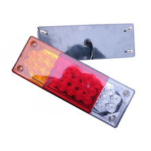 купить 1 Pair LED Rear Tail Lights Stop Turn Signal Reverse Lamp for 12V 24V Truck Trailer Lorry Forklift Caravan дешево