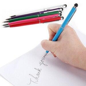 Image 3 - 20 pz/lotto 2in1 schermo di Tocco Dello Stilo Penna + Penna A Sfera per iPad iPhone Smartphone Tablet colori di radom