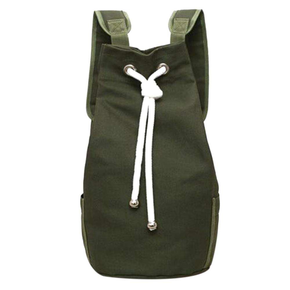 Canvas Large Capacity Barrel Backpack Women Men Fashion Simple Travel Rucksack Teenager School Bag Knapsack Bolsas Mochila Mujer in Backpacks from Luggage Bags
