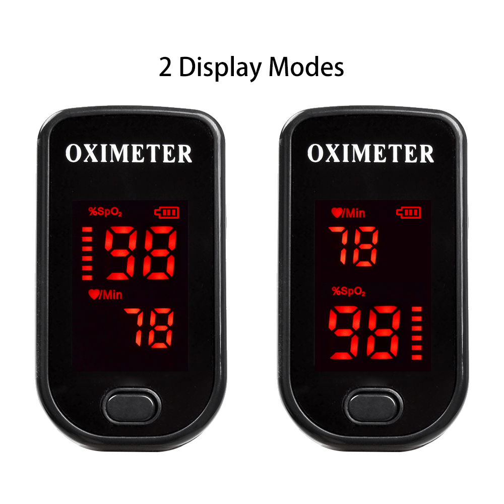 Finger Pulse Oximeter with Case and Two Direction Display Powered Off Automatically After 8 Seconds 5