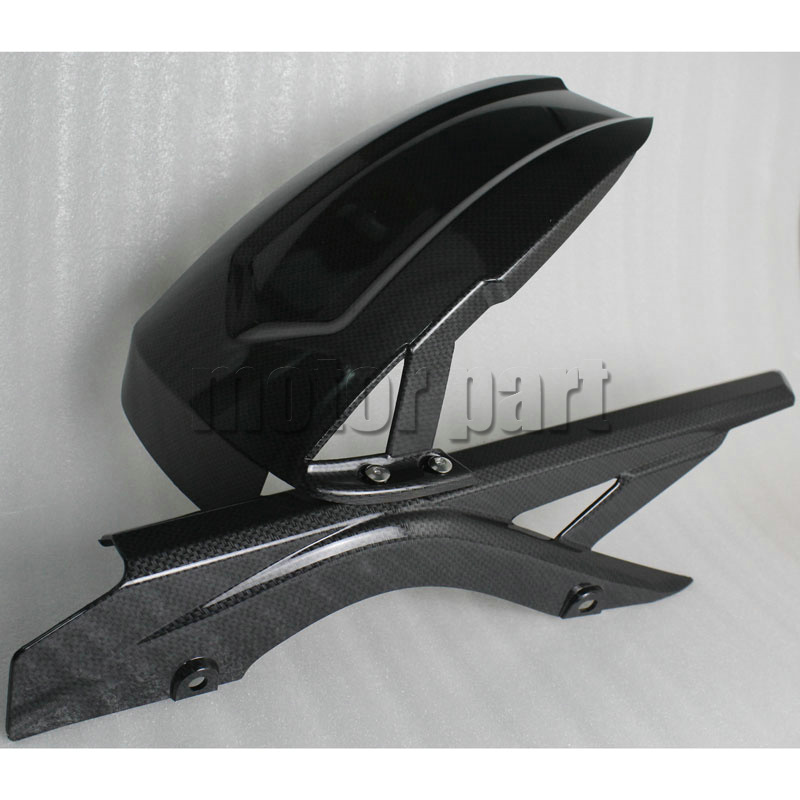 For 2014-2016 Yamaha YZF R25 R3 Motorcycle Rear Fender Dust Mudguard With Chain Guard Fairing Tire Wheel Hugger Protector Carbon red for yamaha yzf r25 r3 13 16 14 15 motorcycle rear fender dust mudguard with chain guard fairing tire wheel hugger protector