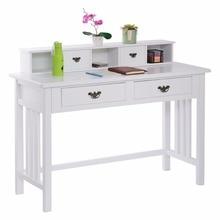 Writing Desk Mission White Home Office Computer Desk 4 Drawer White HW50202+
