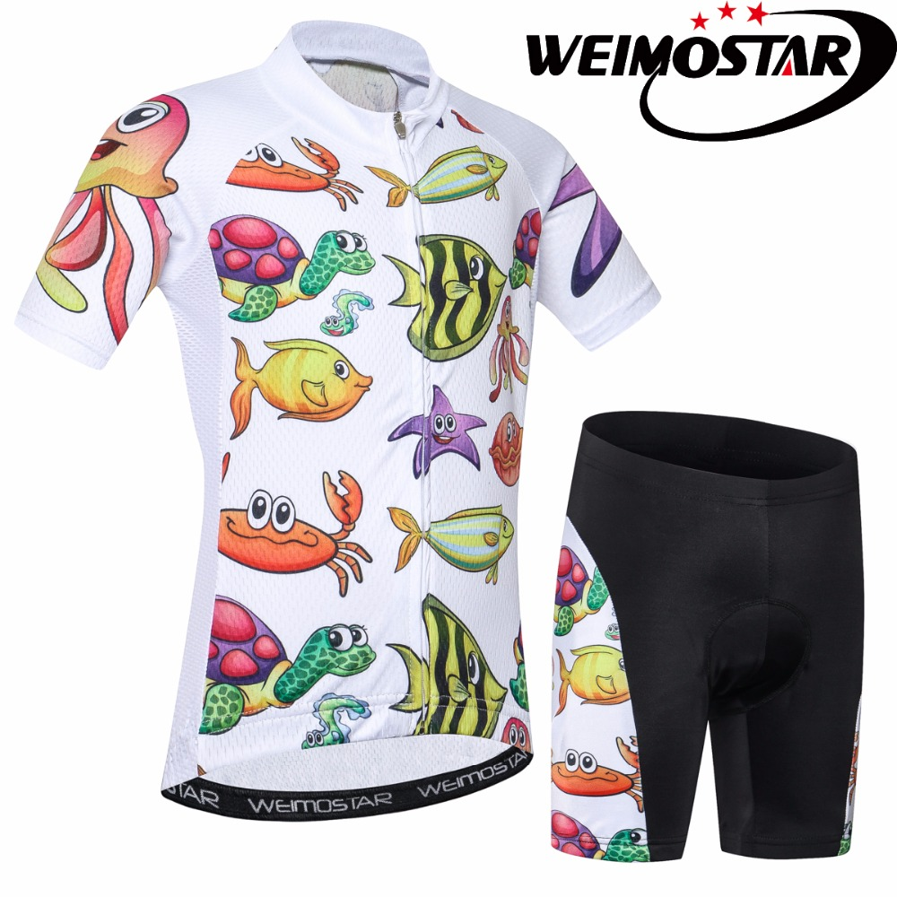 2018 WEIMOSTAR Summer Kids Cycling Jersey MTB Bike Jersey Clothing Wear Ropa Ciclismo Boys Riding Sport