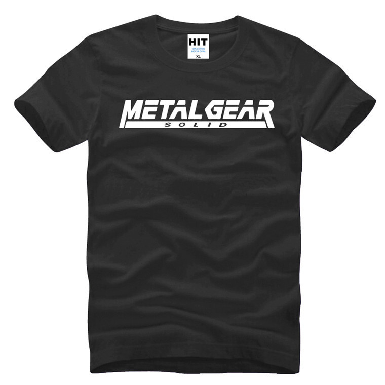 Game MGS Metal Gear Solid Letter Printed Mens Men T Shirt T-shirt 2016 New Short Sleeve Cotton Tshirt Tee Camisetas Masculina