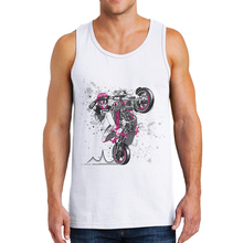 Fashion Nova Moda Hombre 2019 Mens Tank Tops Sleeveless Shirt Man Undershirt Men Cotton Racing Motorcycle Printing Male Gym Vest