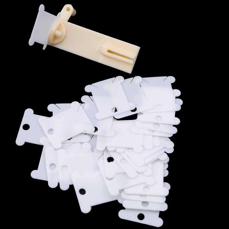 سريعة لف آلة البلاستيك التشغيل اليدوي سلسلة اللفافات 30 قطعة موضوع بطاقة المتداول خط لف دائم أدوات خياطة