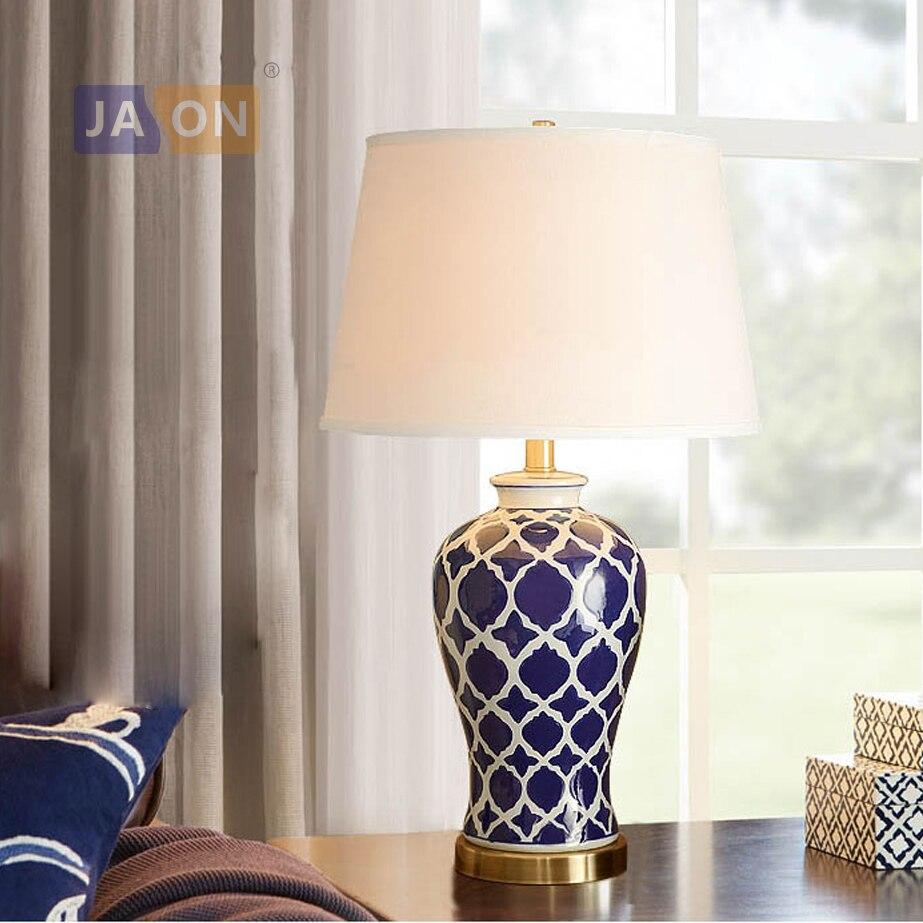 led e27 Chinese Iron Fabric Ceramic Blue White LED Lamp.LED Light.Table Lamp.Desk Lamp.LED Desk Lamp For Bedroom Foyer led e27 Chinese Iron Fabric Ceramic Blue White LED Lamp.LED Light.Table Lamp.Desk Lamp.LED Desk Lamp For Bedroom Foyer