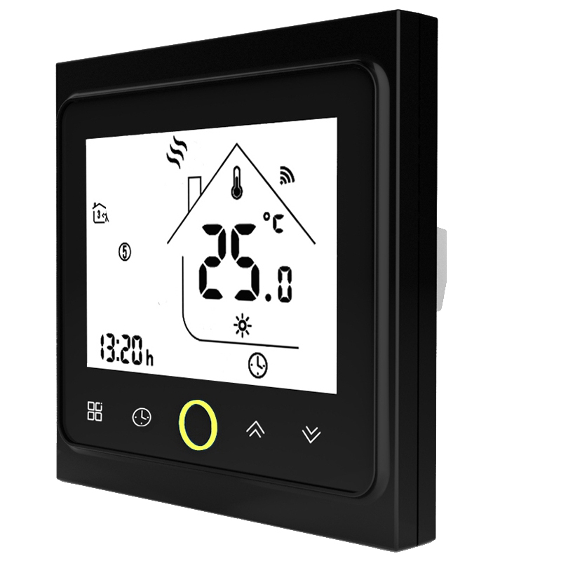 Wifi Thermostat Temperature Controller Lcd Press Screen Backlight For Electric Heating Works With Alexa Google Home 16A