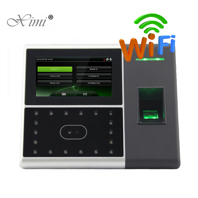 WIFI TCP/IP Biometric Face And Fingerprint Time Attendance And Access Control System Iface302/uface302 Time Recorder Time Clock