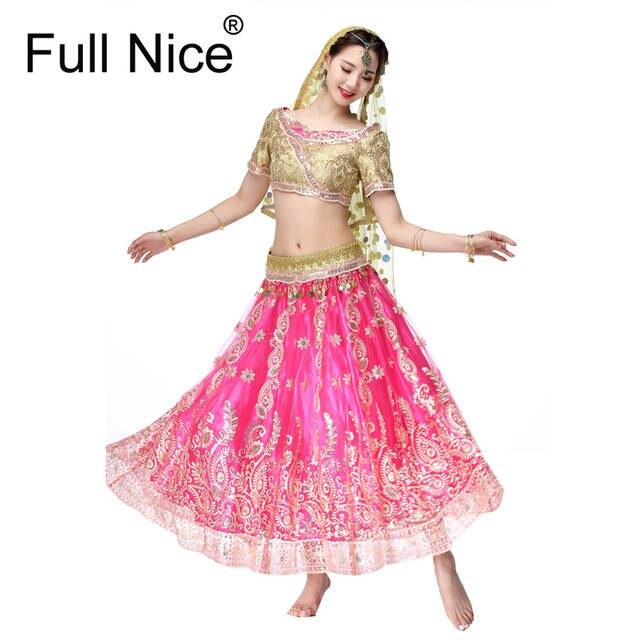 e1ef6cfe5 Online Shop Sari Dancewear Women Belly Dance Clothing Set Indian ...
