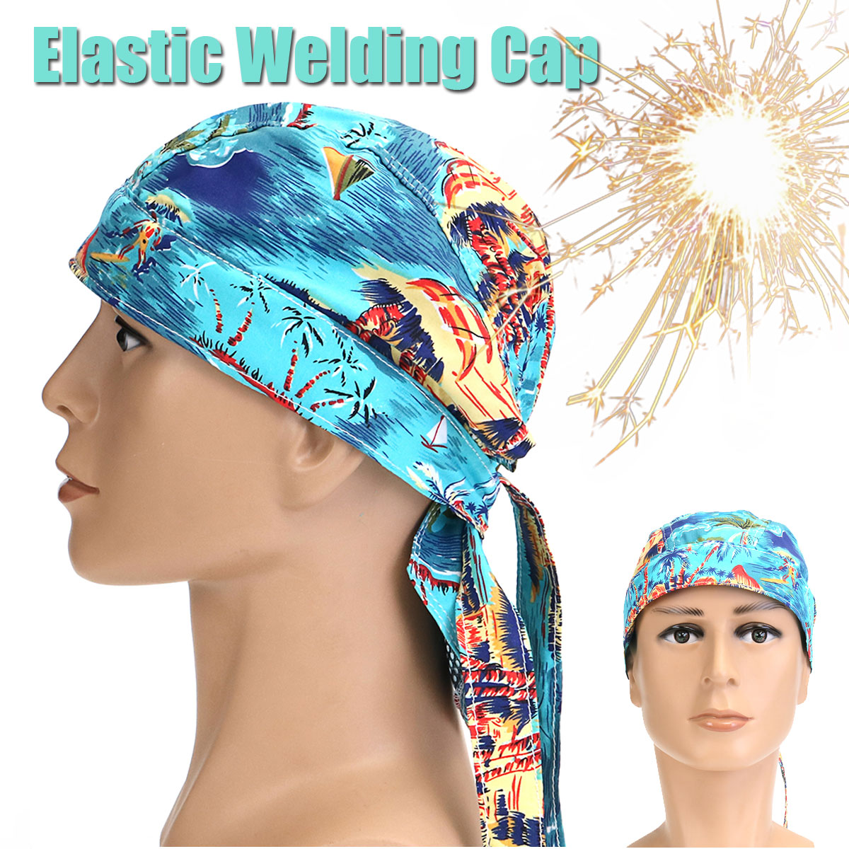 FORGELO Welding Protective Hat Cap Scarf Flame Retardant Cotton Sweat Comfortable Safety Helmet Head Full Protection Hoods