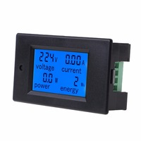 Medidor de energia atual 260 da potência do watt da tensão da c.a. 80-PZEM-061 v 100a com ferramentas rachadas do verificador do ct 0 999999kwh