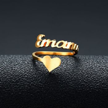 Personalized Custom Name Rings Rose Gold Color Date Numbers Heart Sprial Ring For Women High Quality Stainless Steel Jewelry mae rose gold color round thin titanium stainless steel rings for women simple style fashion jewelry weding rings