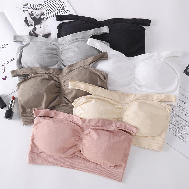 Women Seamless Bra Tube Top Sexy Lingerie Wrapped Chest Female Crop Top Sexy Underwear