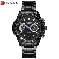 Curren 8020 Dropship Black Man Quartz Watch Business Military Men S Watches 3ATM Analog Waterproof Relogio