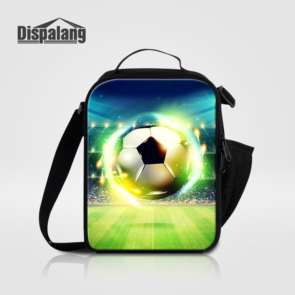 Dispalang lightning foot ball designer lunch bags thermo packed lunch bag box for children kids insulated travel picnic food box