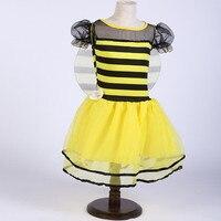 Kids Meisjes Bee Hoofdband Vleugels Rok Set Kinderen Animal Cosplay Kostuum Feestjurk Up Decoratie Nieuwjaar