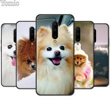 Phone Case for Oneplus 7 7 Pro 6 6T 5T Black Soft Case for Oneplus 7 7Pro Silicone TPU Cover Shell Pomeranian dogs
