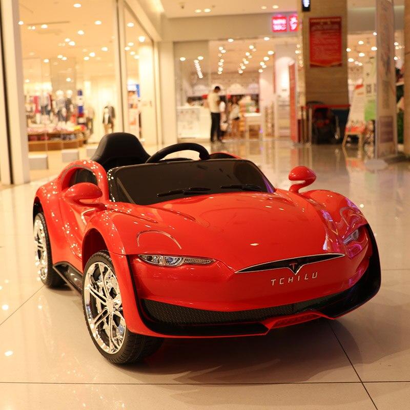 Abdo télécommande Automobile jouets voiture électrique enfant voiture électrique quatre roues Double entraînement jouet voiture rechargeable bébé peut s'asseoir sur - 6