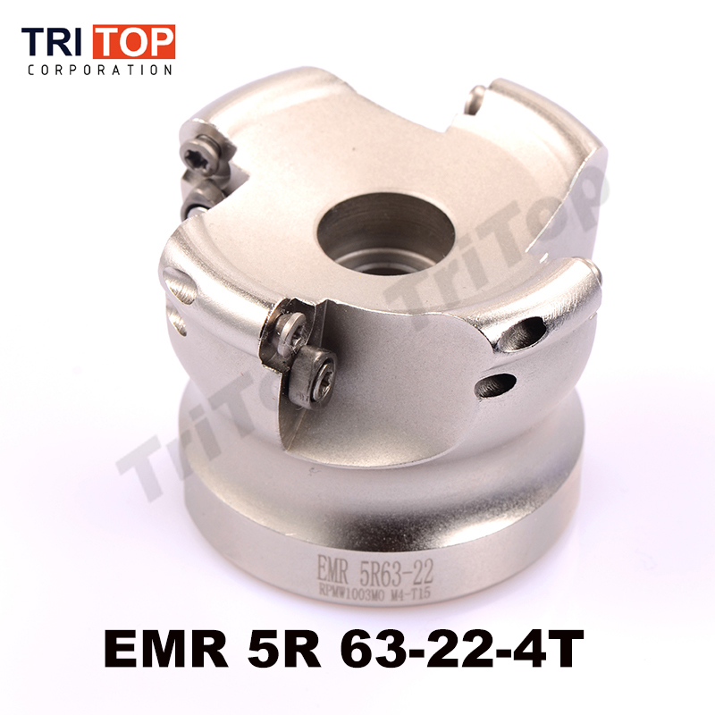 Подробнее о EMR 5R 63-22-4T 5R-63-22-4T 5R-63-22 face mill milling cutter cnc milling tools for round inserts type R5 RPMW1003 uxcell bap400r 63 22 4t 0 87 x 2 5 metal right angle shoulder face milling cutter