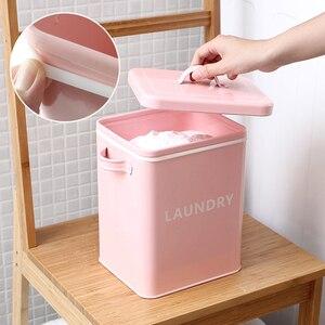 Image 4 - Boîte de rangement pour cuisine salle de bain, conteneur de riz, Grain 10l revêtement métal Zinc boîtes de rangement de poudre à pain avec cuillère