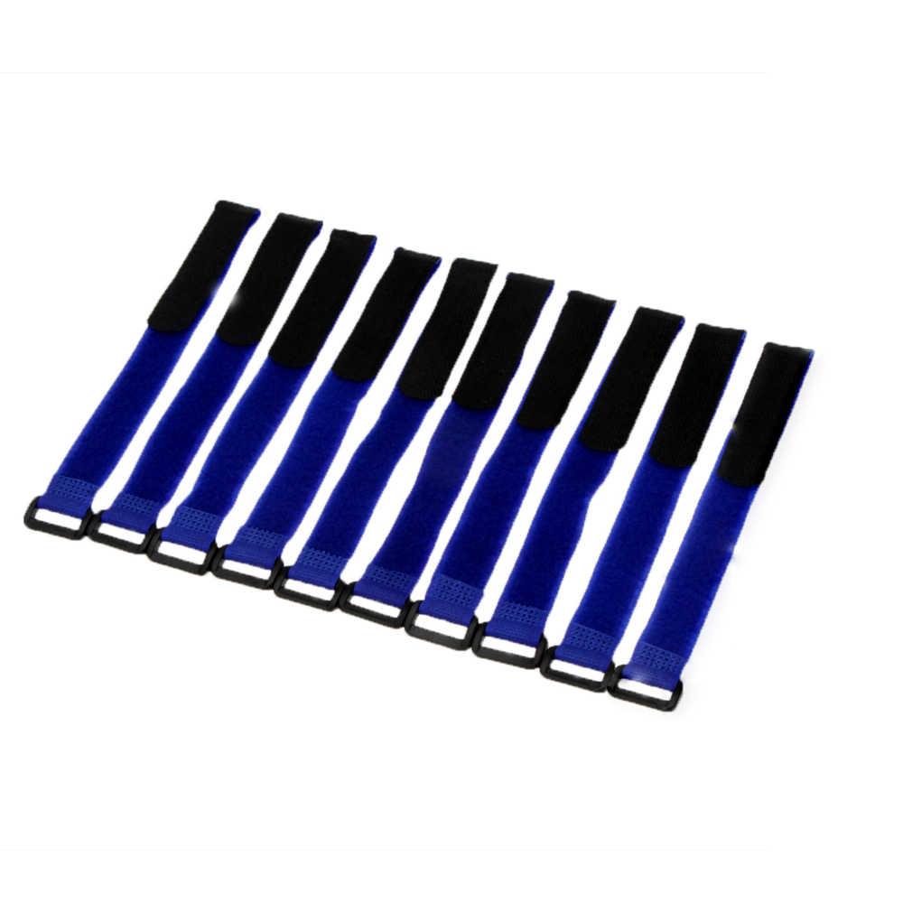 10 Pcs Forte Batteria di RC Antiscivolo Cavo Tie Imbottiture Cinghie 26*2 centimetri Cinghia di Batteria RC Drone Batteria Fascia RC Parte Rosso Nero Giallo