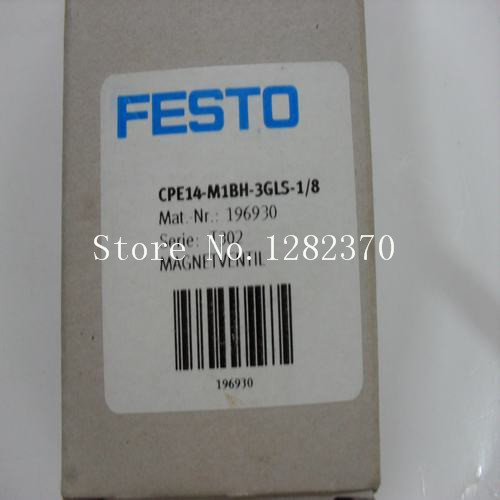 New original authentic FESTO solenoid valve CPE14-M1BH-3GLS-1/8 spot 196930 new original authentic solenoid valve vfs2130r 4do 02f