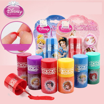 disney pretend play beauty fashion toys frozen child cosmetic set girl toy makeup box house eye shadow blush for kids gift Disney  pretend play frozen Water Soluble Fingerprint Kids Cosmetic Makeup Girl  Toys For Children Gifts Nail Polish toys gift