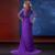 Elegante Púrpura Madre de Los Vestidos de Novia para La Boda 2017 más el Tamaño de Una línea Con Cuentas Medias Mangas Gasa Del Partido de Tarde vestidos