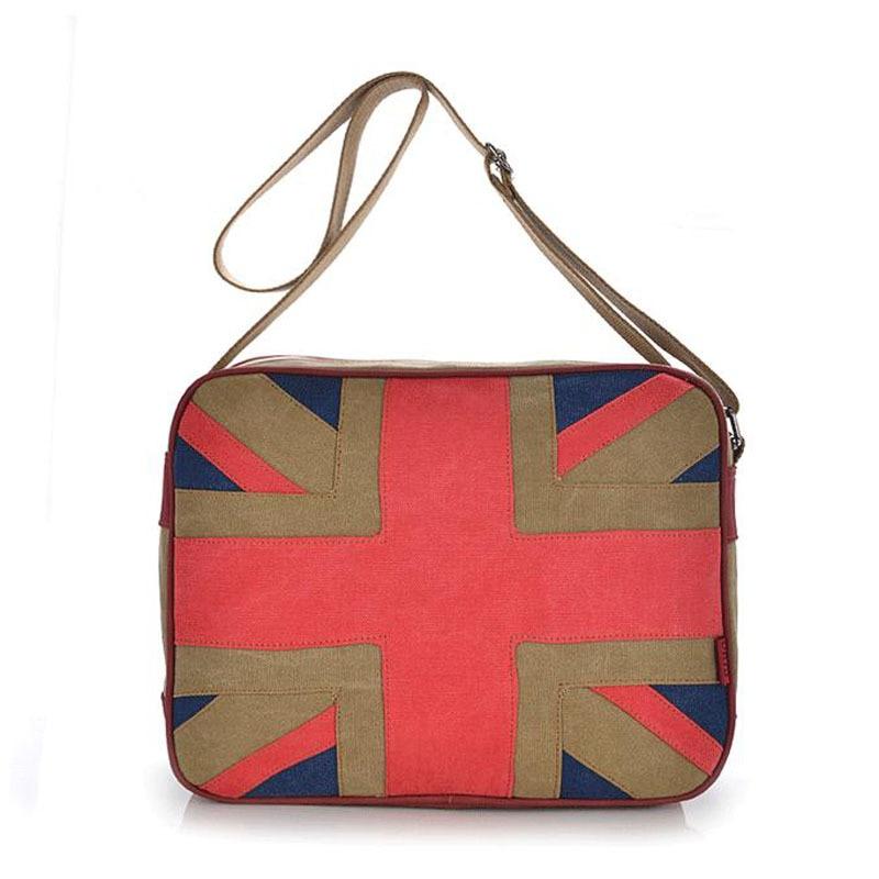 2018 new handbags canvas bag neutral bag classic retro casual Union Jack women Messenger Bags National flag shoulder bag