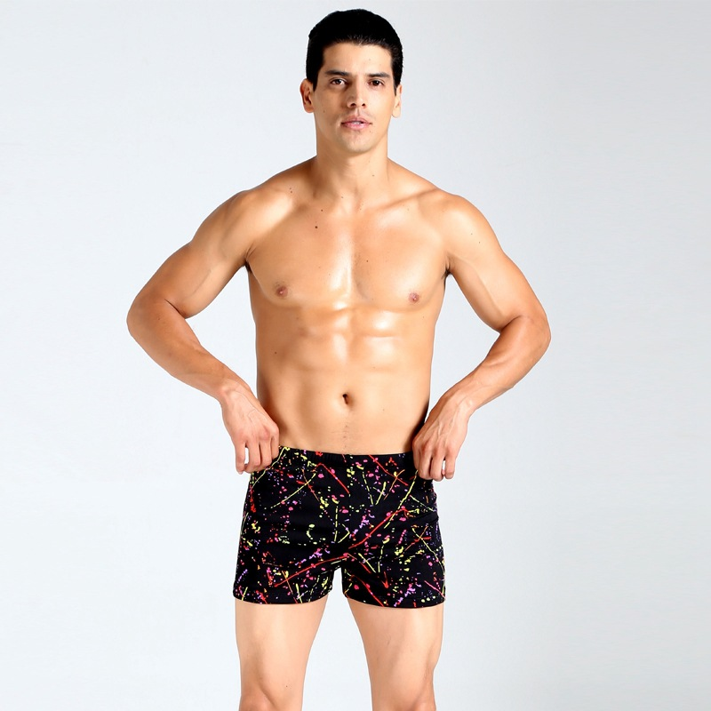 Maxmessy Men Sportswear Swimming Trunks Swimwear Bathing Swim Suit Pants Mens Beach Swimsuits Briefs Solid or Print Shorts