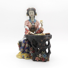 Art Classical Chinese Style Statue Pure Manual Figurine Glazed Ceramic Character Ornaments Jia Xichun