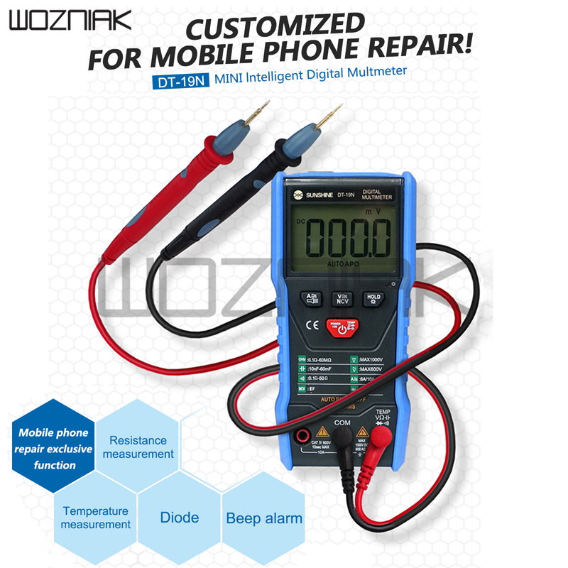 SUNSHINE DT-19N Mini Smart Multimeter Range Mobile Phone Repair