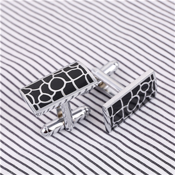 Luxury Laser pattern gemelos shirt cufflinks for mens silver Plated cuff buttons cuff links High Quality abotoaduras Jewelry