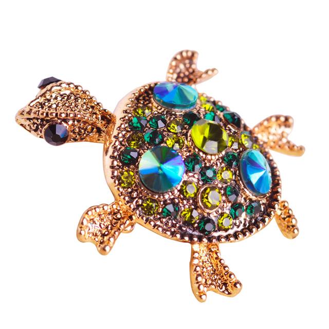 Gold Tortoise Brooch