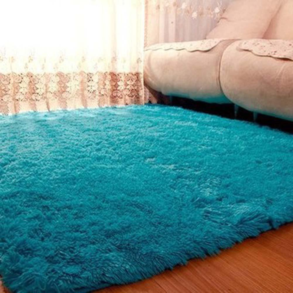 Fluffy Rugs Anti Skiding Shaggy Area Rug Dining Rooms Carpet Floor Mats Blue Shag A609 In From Home Garden On Aliexpress
