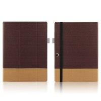 High Quality 3 Folder Canvas Folio Stand PU Leather Skin Shell Funda Cover Case For Lenovo
