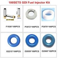 100set GDI fuel injector repair kit service kit rebuild kit replacement filter oring kit (AY RKGDI)