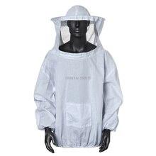 Шляпой одеть пчеловодство veil со защитный халат куртка костюм платье белый