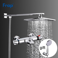 Frap 1 Set Thermostatic Faucet Head Shower Bath Faucet Cold and Hot Water Mixer F2406+F3051 Hand Shower and Hose Gifts