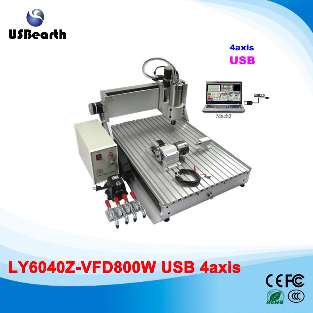 Sandstone router brick engraving machine 6040 cnc router with usb port , 800 water cooled spindle usb port 6040z s 4aixs 800w spindle 1 5kw vfd cnc6040 cnc router water cooling metal engraving machine cnc machine cnc 6040