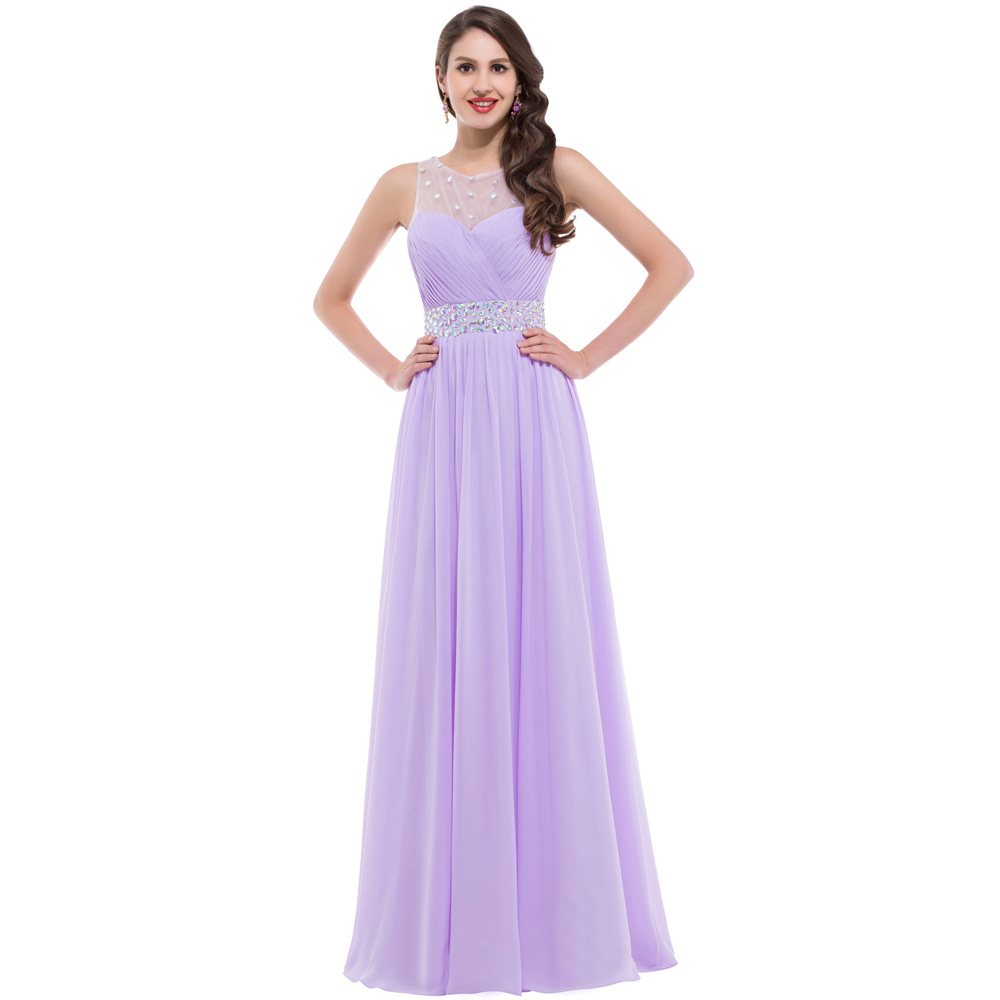 Princesa rosa / lila largo de baile vestidos gracia Karin gasa ...