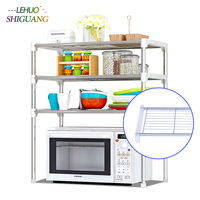 Multilayer Kitchen Microwave oven Shelves Storage rack Rust proof pipe Simple Assembly can be removed move Shelf furniture