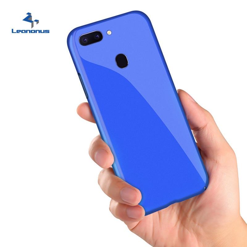 Leanonus Glossy Pc Plastic Capa Hard Phone Case for OPPO R9s R9s Plus R11 R11s R11s Plus R15 R15 Pro Back Cover Shockproof Coque