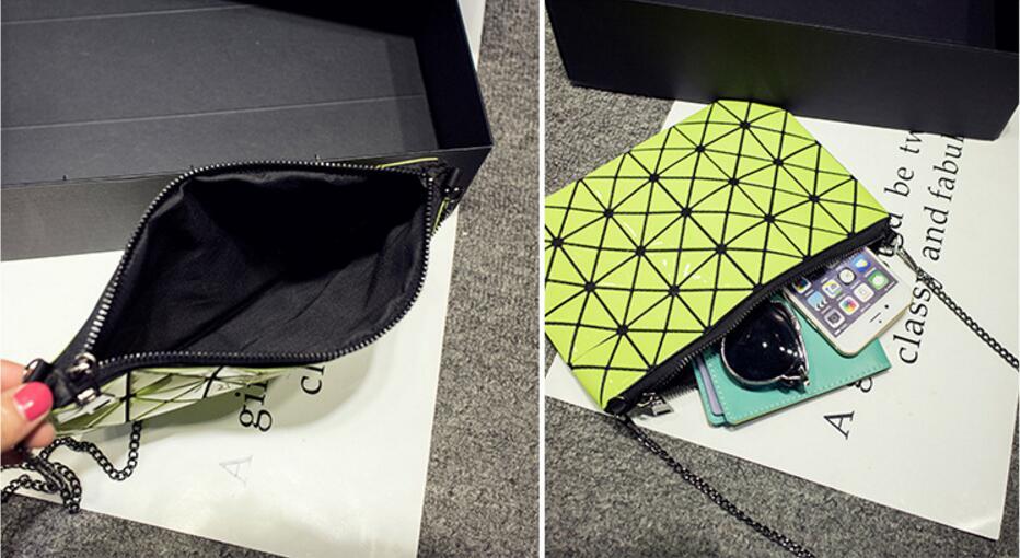 18 Famous Bao Bags Women Geometric Lingge Envelope Handbag Small Chain Clutch Ladies Shoulder Bags Messenger Bag Bao Bolsa 9
