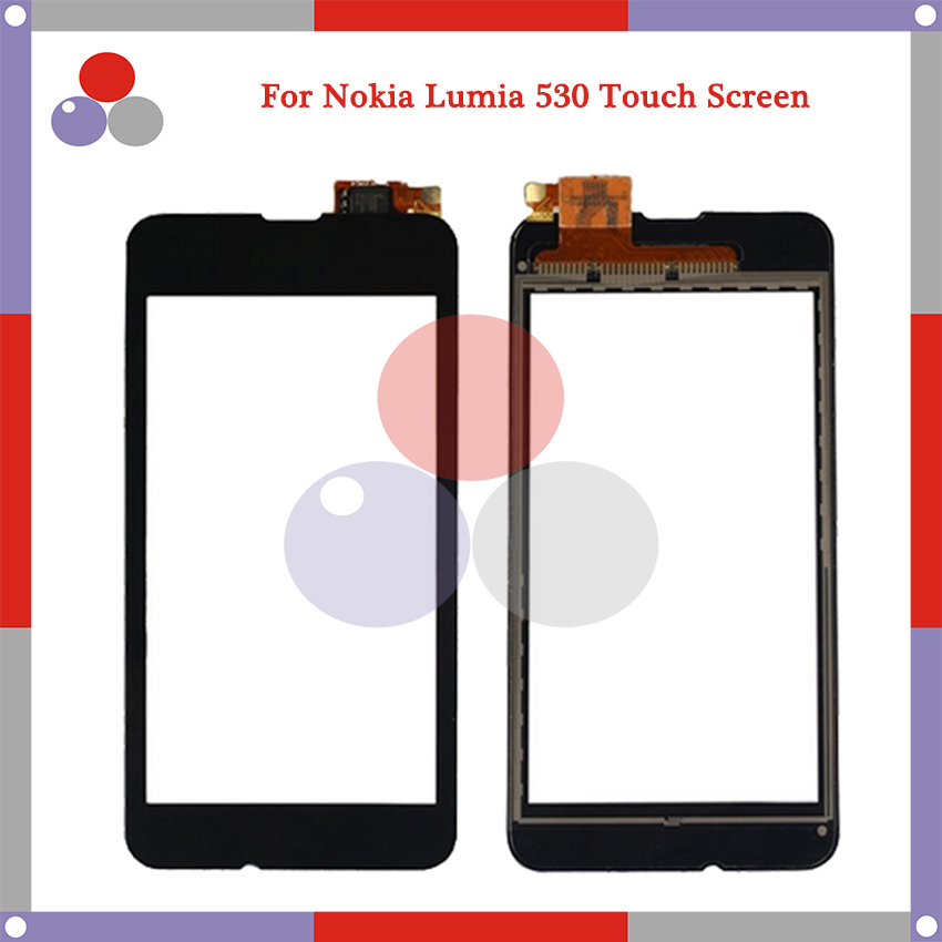 High Quality For Nokia Microsoft Lumia 530 N530 Touch Screen Panel Sensor Digitizer Outer Glass Lens
